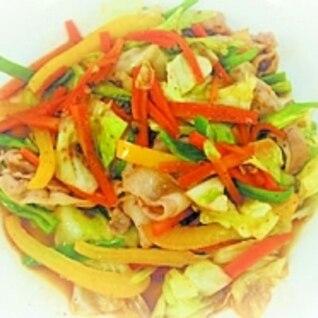 ピリ辛アジアンミックスの野菜炒め