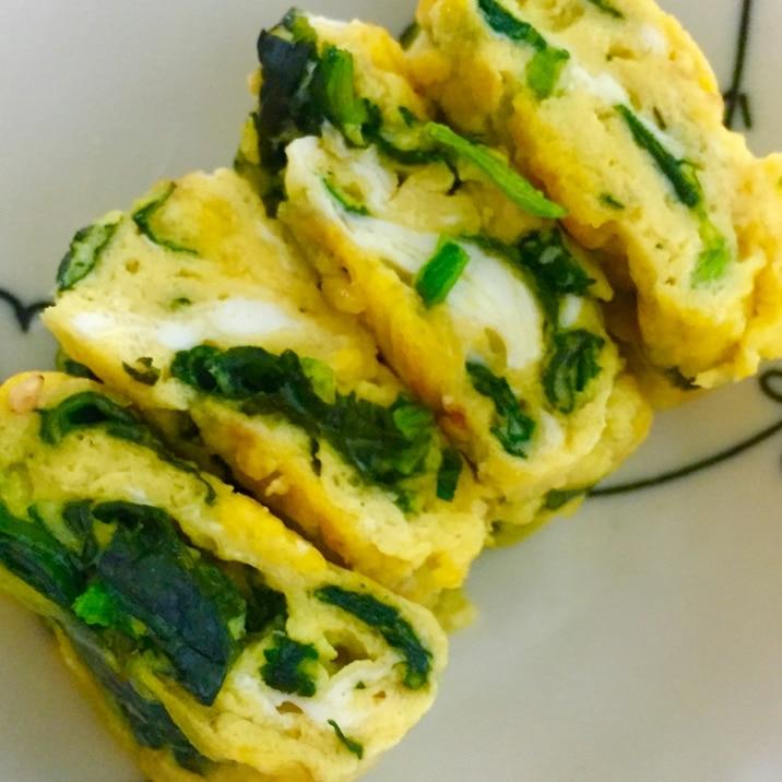 お弁当*卵焼き!ほうれん草チーズオムレツ風