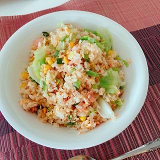 姜葱醬のレタスチャーハン