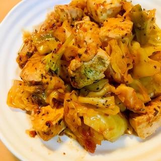 赤ワインで煮る●鶏肉&キャベツのミネストローネ風