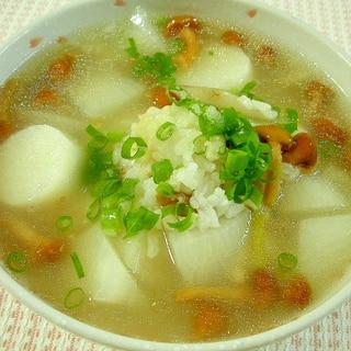 夏風邪に!トロリと美味しい参鶏湯風おかゆ