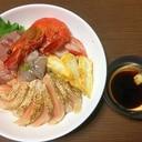 玄米ご飯の海鮮丼