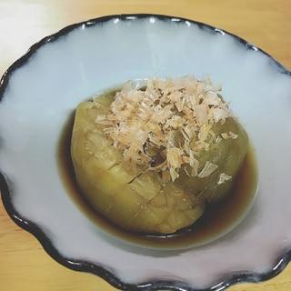 丸ナスの煮浸し