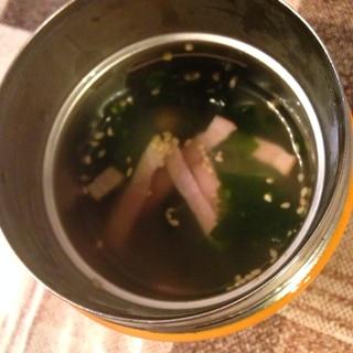 スープジャーで☆春雨スープ