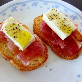 ☆生ハムとクリームチーズのブルスケッタ☆