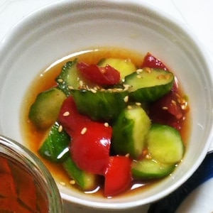 簡単!キュウリとトマトの中華サラダ☆