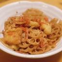 簡単時短!水煮レンコンと油揚げ、干しエビの煮物