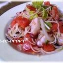 蛸&フレッシュトマト de 冷製パスタ