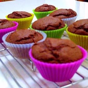 ごぼう&ヨーグルトのチョコ風味カップケーキ