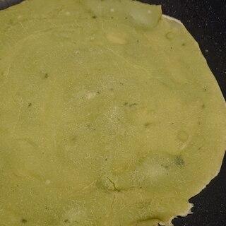 片栗粉でモッチリ青汁トルティーヤの生地