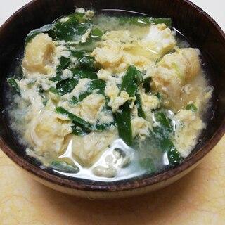 にらと揚げの卵とじ糀味噌汁