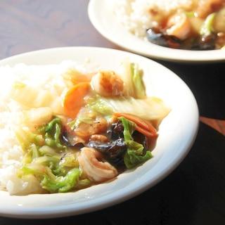 好きな野菜など加えてください『中華丼』
