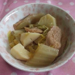 じゃがいもと白菜と豚肉のあっさり味噌煮