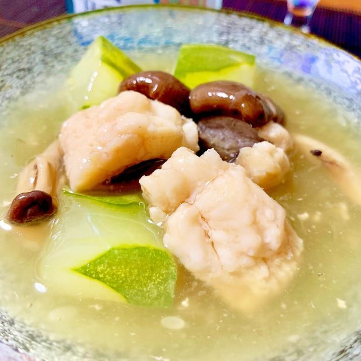 日本酒すすむ、鱧と加賀太胡瓜の冷やし鉢