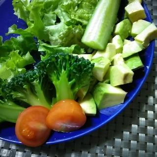 ブロッコリーとアボカド☆ミニトマトの柚子風味サラダ