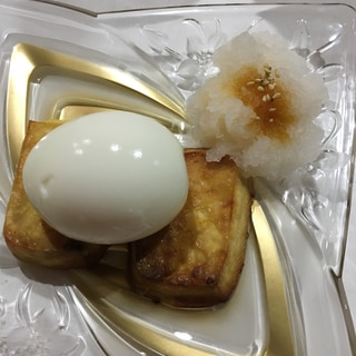 半熟卵のせ豆腐ステーキ