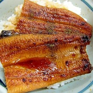 真空パック鰻がふっくら丼