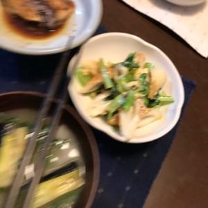 小松菜とちくわのおばんざい