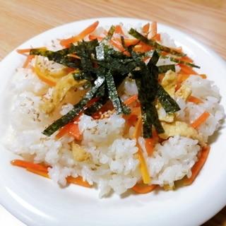人参と油揚げのちらし寿司