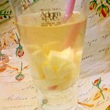 食べながら飲む感覚☆ミルク寒天入りホエー割り梅酒♪