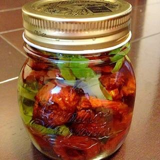 ミニトマトのセミドライオイル漬け
