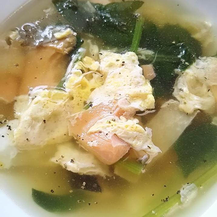スープ ほうれん草 卵