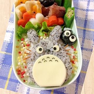 簡単キャラ弁☆トトロのお弁当♪