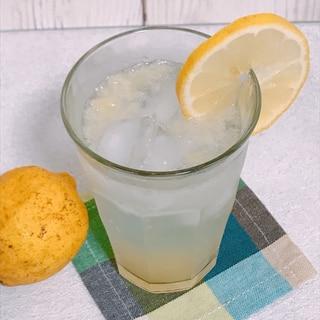 【生レモン使用】簡単レモンスカッシュ