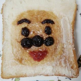 子供が喜ぶ★美味しいアンパンマントースト★