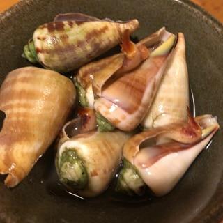 チャンバラ貝の塩茹で