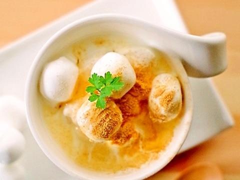 簡単ほっこり♡マシュマロ蜂蜜きな粉ホットミルク