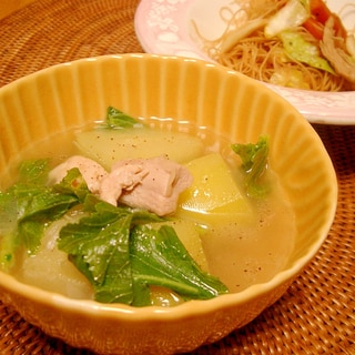 青パパイヤのフィリピン風スープ