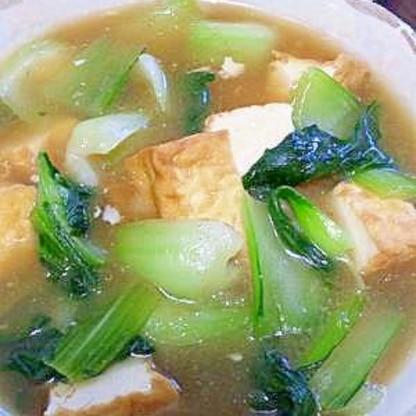 厚揚げとチンゲン菜の中華風うま煮♪