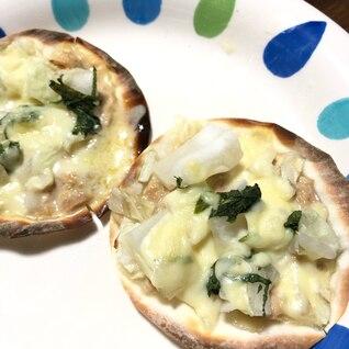 ツナ&大葉の白菜ピッツァ