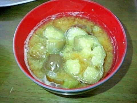 ナスのお味噌汁