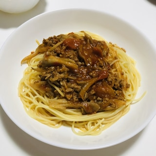豚ひき肉と舞茸のトマトパスタ♡ボロネーゼ風