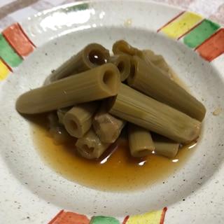 春の山菜イタドリ(ゴンパチ)の煮物