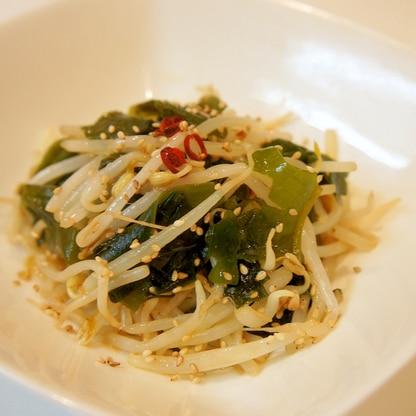 和えるだけ♪もやしとワカメの中華風サラダ