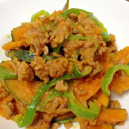 ご飯がすすむ☆挽き肉とかぼちゃの甘味噌炒め