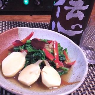 簡単おうち中華、慈姑と雪菜の中華煮