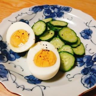 茹で卵ときゅうりのサラダ