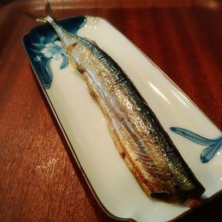 電子レンジオーブン使用★皮がパリッ♪秋刀魚の塩焼き