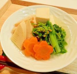 春になったら♪たけのこと菜の花の煮物☆