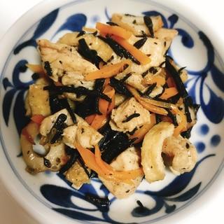 【夫婦のおつまみ】鶏むね肉のひじきの煮物
