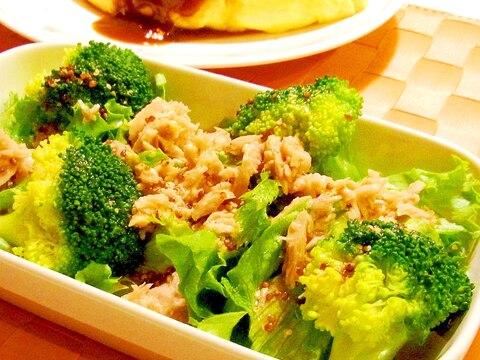 ツナとブロッコリーのサラダ(粒マスドレッシング)