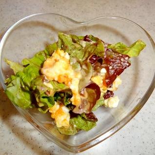 キューピードレッシングを使って卵とレタスのサラダ☆
