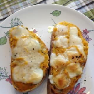 かぼちゃの煮物deリメイク☆かぼちゃチーズトースト