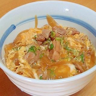 麺つゆで親子丼