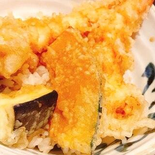 市販の天ぷらで♡手作りタレ天丼