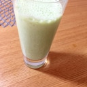 簡単鉄分補給☆小松菜バナナきなこグリーンスムージー